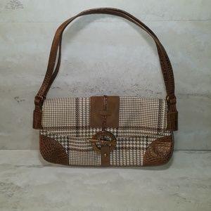 Lauren Ralph Lauren Brown houndstooth purse
